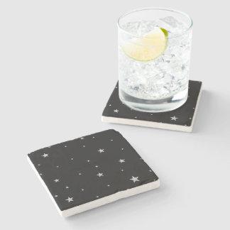 Silver Stars Stone Coaster