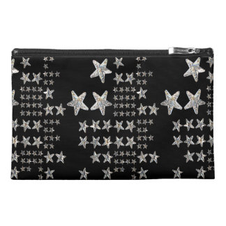 Silver Stars Travel Accessory Bag