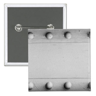 Silver Steel Layout with Bolts Pinback Button