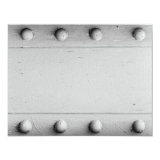 Silver Steel Layout with Bolts Card