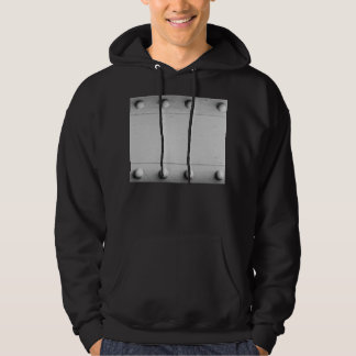 Silver Steel Layout with Bolts Hoodie