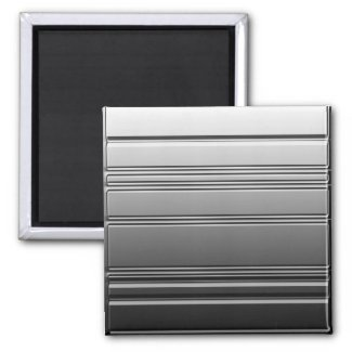 Silver Steel Square Magnet by Heard_ magnet