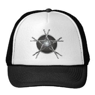 Silver Sticks Pentagram Hat