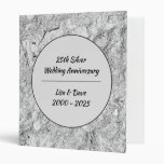 Silver Stone 25th Silver Wedding Anniversary 3 Ring Binder