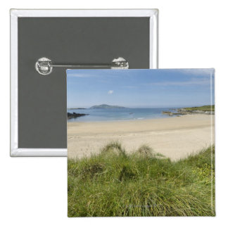Silver Strand with Clear Island in the 2 Inch Square Button