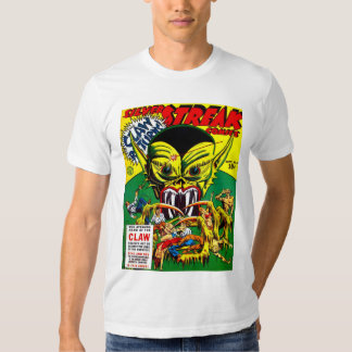 SILVER STREAK Cool Vintage Comic Book Cover Art T-shirt