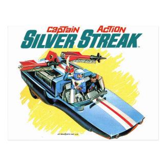 Silver Streak Vintage Ad Postcard