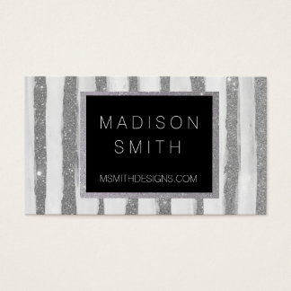 Silver Stripe Business Card