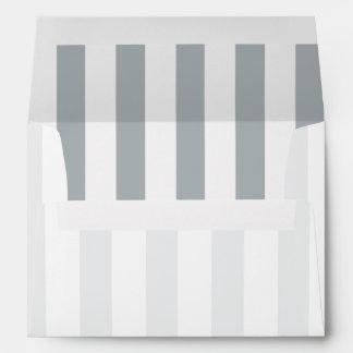 Silver Stripes (Add 2nd Color) Envelopes