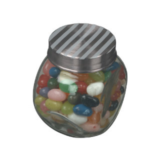 Silver Stripes (Add 2nd Color) Glass Candy Jars