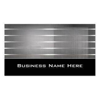 Silver Stripes Contemporary Business Cards