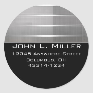 Silver Stripes Contemporary Return Address Labels