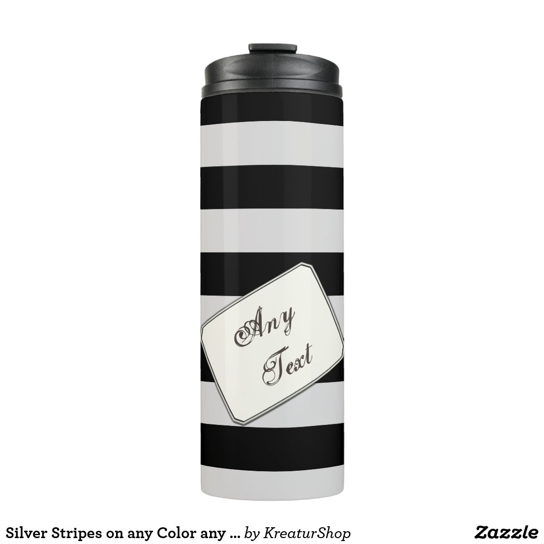 Silver Stripes on any Color any Text