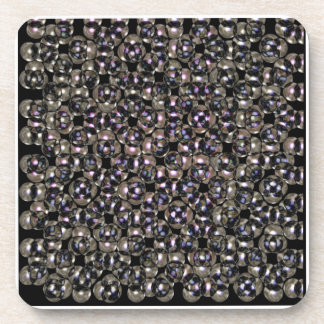 Silver Studs Abstract by Valxart.com Coaster