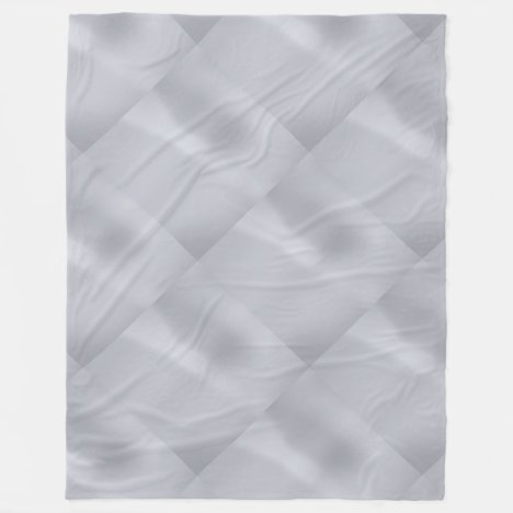 Silver Subtle Diamond Pattern Fleece Blanket