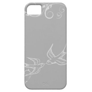 Silver Swallow iPhone Cover