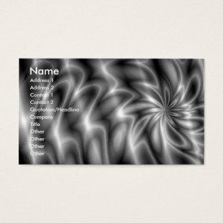 Silver Swirl Business Card