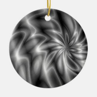 Silver Swirl Ceramic Ornament