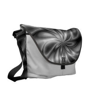 Silver Swirl Courier Bag