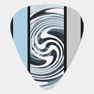 Silver Swirl Custom Guitar Pick