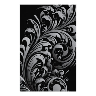 """Silver Swirl Double Sided Paper 5.5"""" x 8.5"""""""