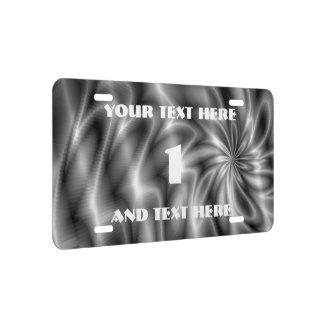 Silver Swirl License Plate