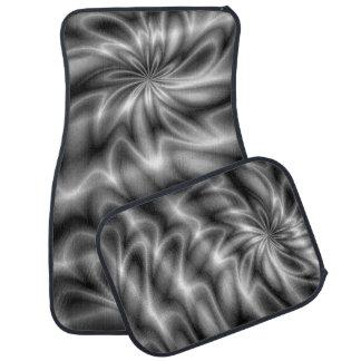 Silver Swirl Floor Mat