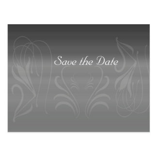 Silver Swirls Anniversary Save the Date Postcard