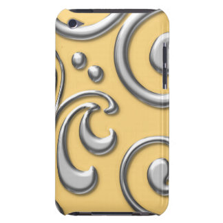 Silver Swirls iPod Touch 4G Case iPod Case-Mate Case