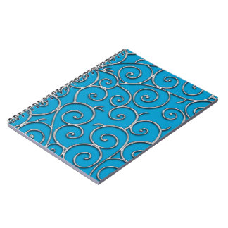 silver swirls notebook
