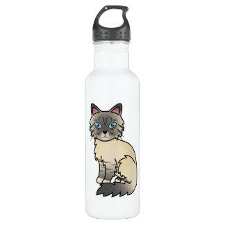 Silver Tabby Birman / Ragdoll Cat Stainless Steel Water Bottle