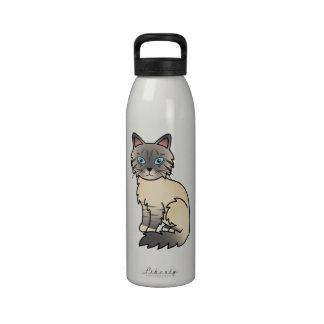 Silver Tabby Birman / Ragdoll Cat Water Bottle