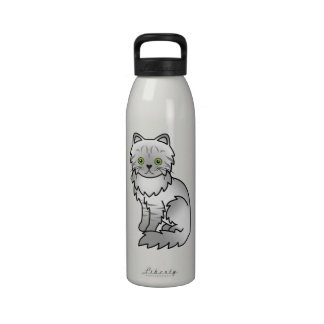Silver Tabby Chinchilla Persian Cat Reusable Water Bottle