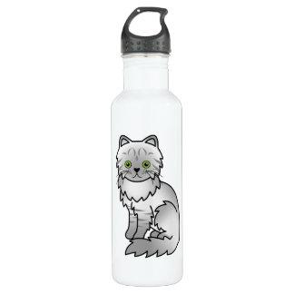 Silver Tabby Chinchilla Persian Cat Water Bottle