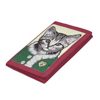 Silver Tabby Kitten Wallet ~ 3 Lil' Kittens