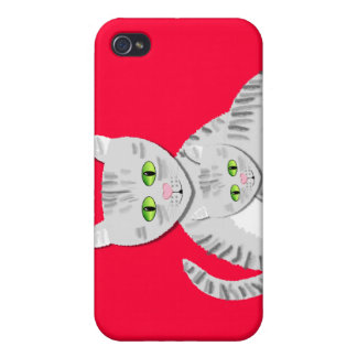 Silver Tabby Mother Cat and Kitten Case For iPhone 4