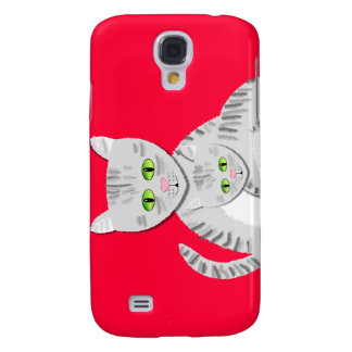 Silver Tabby Mother Cat and Kitten Galaxy S4 Cover