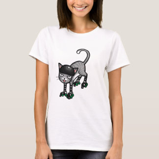 Silver Tabby on RollerSkates T-Shirt