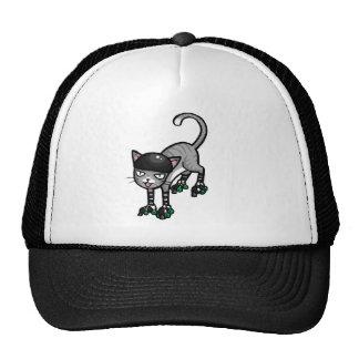 Silver Tabby on RollerSkates Trucker Hat