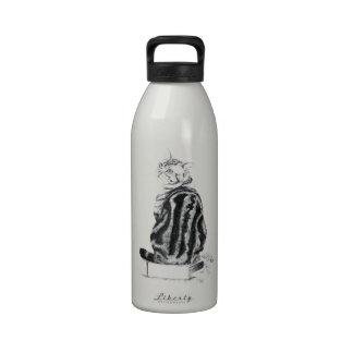 Silver Tabby Drinking Bottles