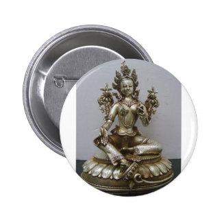 SILVER TARA BUDDHIST GODDESS PIN