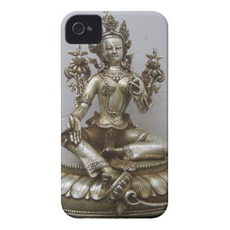 SILVER TARA BUDDHIST GODDESS iPhone 4 CASES