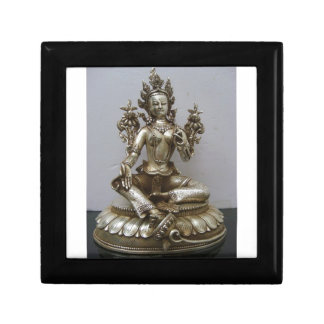 SILVER TARA BUDDHIST GODDESS TRINKET BOX