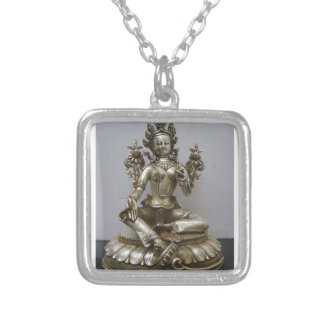 SILVER TARA BUDDHIST GODDESS PENDANT