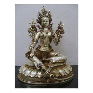 SILVER TARA BUDDHIST GODDESS POSTCARD
