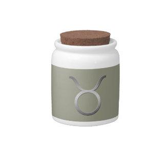 silver taurus candy jars