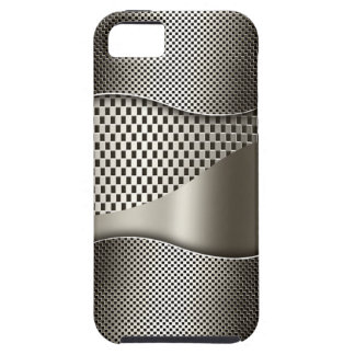 Silver Tech Mesh Chrome 1 iPhone 5 Cases