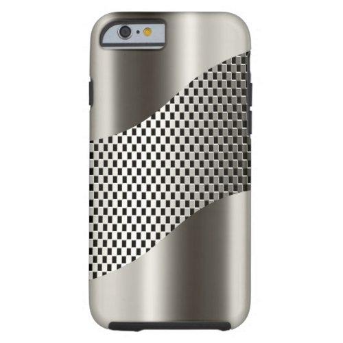 Silver Tech Mesh Chrome 2 Phone Case