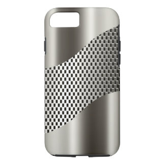Silver Tech Mesh Chrome 2 iPhone 7 Case
