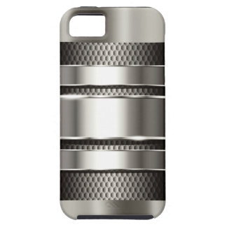 Silver Tech Mesh Chrome 3 iPhone 5 Covers